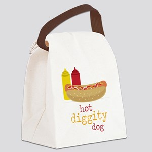 Hot Diggity Canvas Lunch Bag