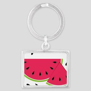 Watermelon Slice Landscape Keychain