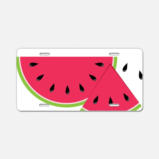Watermelon Slice Aluminum License Plate