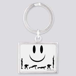 Yes, burpees again Landscape Keychain