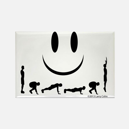 Yes, burpees again Rectangle Magnet