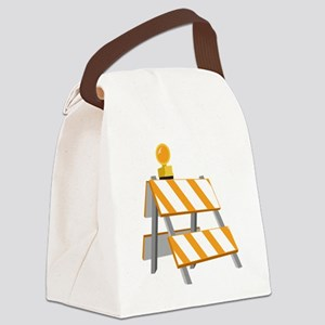 Construction Barrier Canvas Lunch Bag