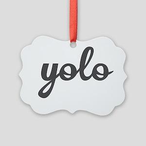Yolo Picture Ornament