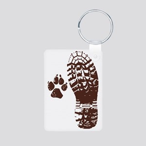 Hike with friends Sticker Aluminum Photo Keychain