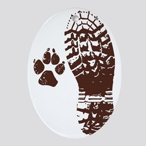 Hike with friends Sticker Oval Ornament