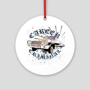 Career Criminal Impala Round Ornament