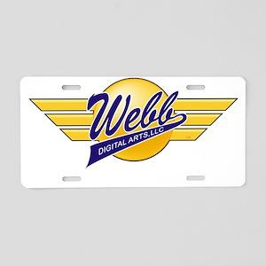 Logo Wings White URL Aluminum License Plate
