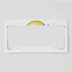 Logo Wings White URL License Plate Holder
