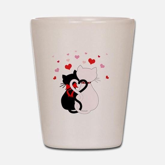Love Cats Shot Glass