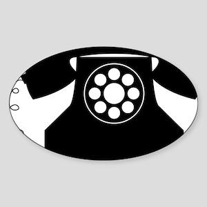 Telephone Sticker (Oval)
