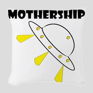 Mother Ship Woven Throw Pillow