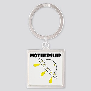 Mother Ship Square Keychain