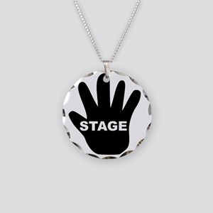 Stage Hand Necklace Circle Charm