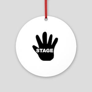 Stage Hand Round Ornament