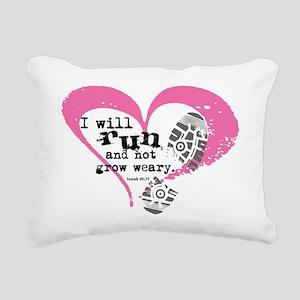 Run and Not Grow Weary Rectangular Canvas Pillow
