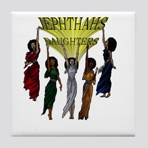 Jephthas Daughters Tile Coaster