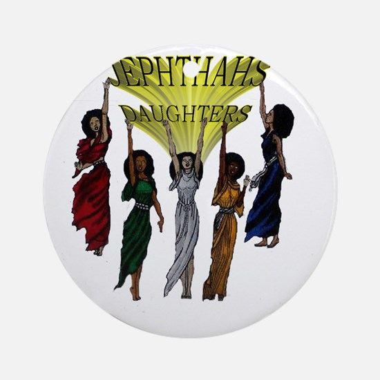 Jephthas Daughters Round Ornament