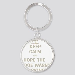 Funny Keep Calm Horse Show Round Keychain