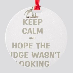 Funny Keep Calm Horse Show Round Ornament
