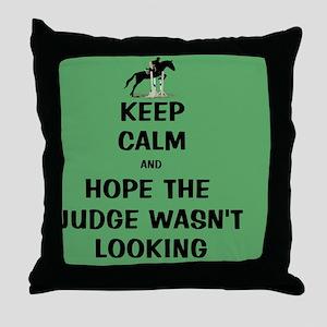 Funny Keep Calm Horse Show Throw Pillow