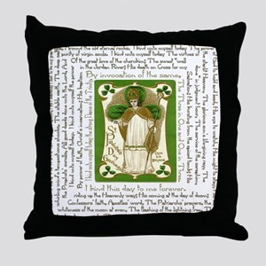 St. Patricks Breastplate Square Throw Pillow