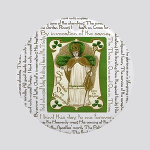 St. Patricks Breastplate Square Round Ornament