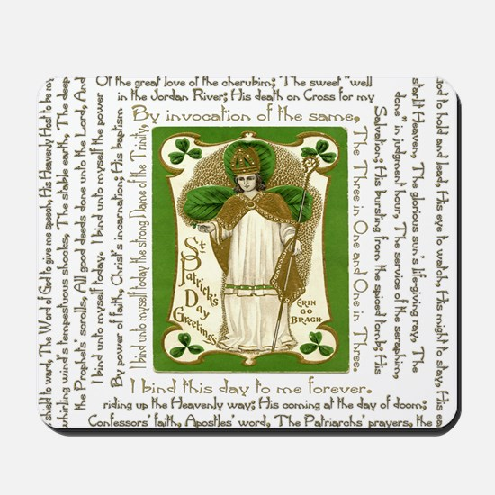 St. Patricks Breastplate Square Mousepad