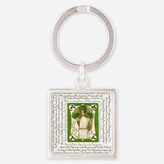 St. Patricks Breastplate Square Square Keychain