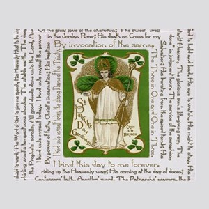 St. Patricks Breastplate Square Throw Blanket
