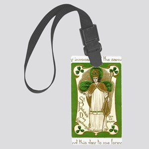 St. Patricks Breastplate Large Large Luggage Tag