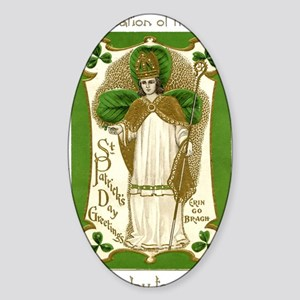 St. Patricks Breastplate Large Sticker (Oval)