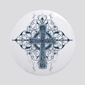 Celtic Cross Round Ornament