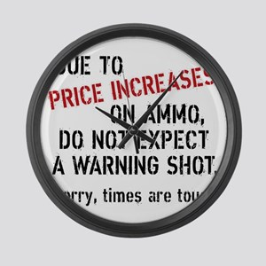 Due to price increases... Large Wall Clock