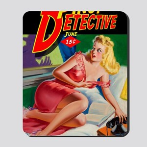 Pinup Detective Pulp Magazine Cover 2 Mousepad