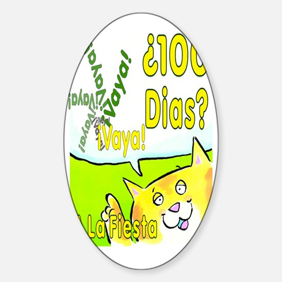 100th Day Cat SP Sticker (Oval)