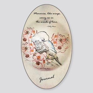 Parakeet 004 - Dreams Sticker (Oval)