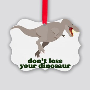 Don't Lose Your Dinosaur Picture Ornament