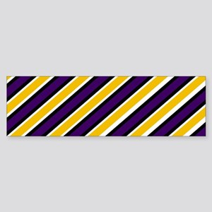Team Colors 1...Yellow and purple Bumper Sticker