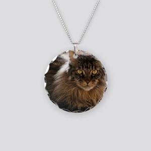 Maine Coon Necklace Circle Charm