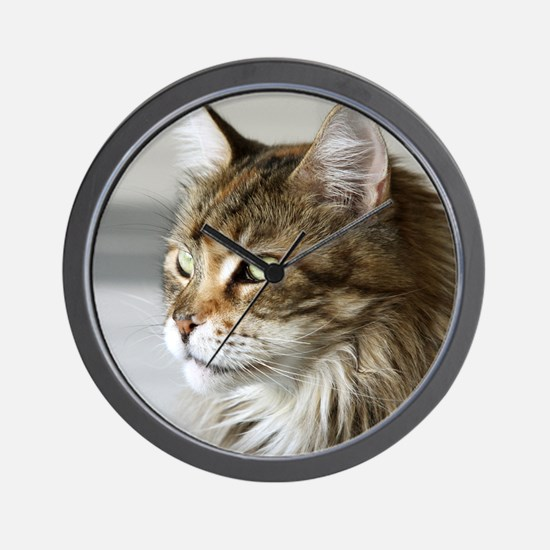 Maine Coon Wall Clock
