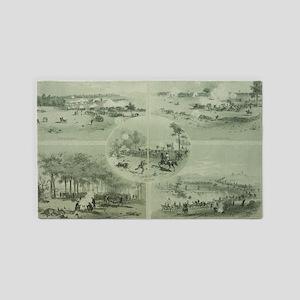 Gettysburg Battle 3'x5' Area Rug