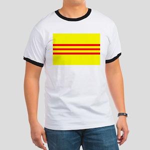 South Vietnam flag Ringer T