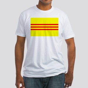 South Vietnam flag Fitted T-Shirt