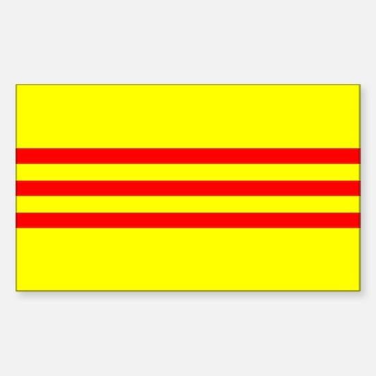 South Vietnam flag Sticker (Rectangle)