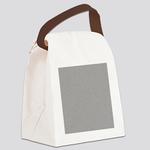 gray raindrops Canvas Lunch Bag