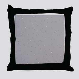 gray raindrops Throw Pillow