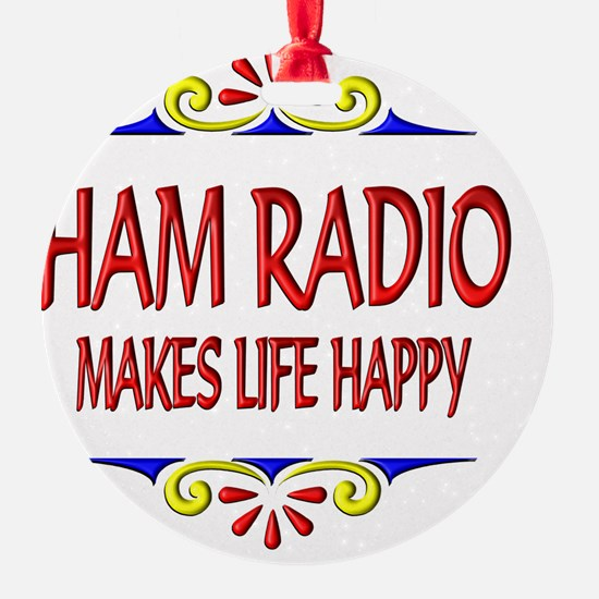 Ham Radio Happy Life Ornament