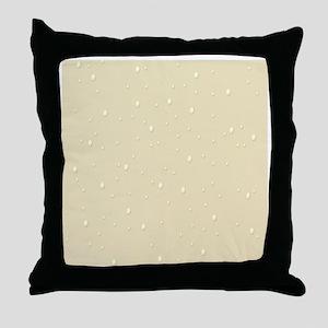 tan raindrops Throw Pillow