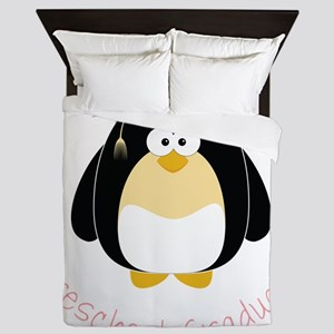 Graduation Penguin Queen Duvet