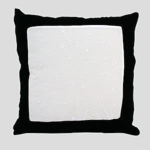 cream raindrops Throw Pillow